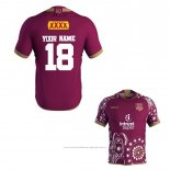 Maillot Queensland Maroons Rugby 2018-2019 Commemorative Font01