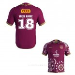 Maillot Queensland Maroons Rugby 2018-2019 Commemorative Font02