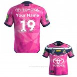 Maillot North Queensland Cowboys Rugby 2019-2020 Commemorative Rose Font02