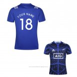 Maillot Nouvelle-zelande All Blacks Rugby Bleu Font02