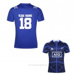 Maillot Nouvelle-zelande All Blacks Rugby Bleu Font01