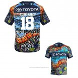 Maillot North Queensland Cowboys Rugby 2018-2019 Indigenous Font01