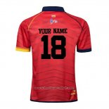 Maillot Espagne Rugby 2019-2020 Rouge Font01