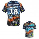 Maillot North Queensland Cowboys Rugby 2018-2019 Indigenous Font02