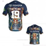Maillot North Queensland Cowboys Rugby 2019 Indigene Font01