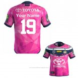 Maillot North Queensland Cowboys Rugby 2019-2020 Commemorative Rose Font01